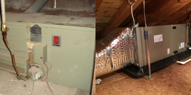 Old furnace vs New furnace